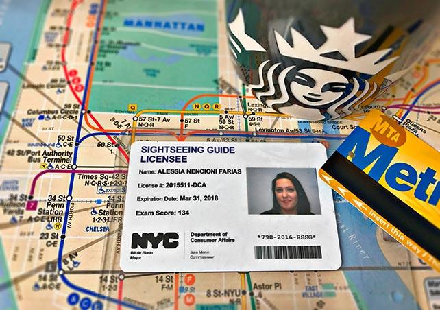 Tesserino di Guida Turistica autorizzata per la città di New York