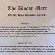 Ricetta originale del Bloody Mary...è di New York