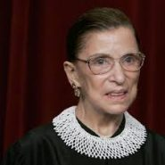 Ruth Bader Ginsburg wears her favorite jabot from South Africa