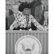 Shirley Chisholm during a speech in 1972